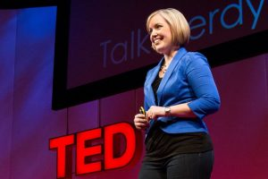 speaker on ted talk stage