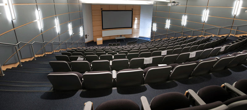 amphitheater style room in JSNN building